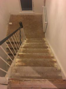 trappe før gulvafslibning